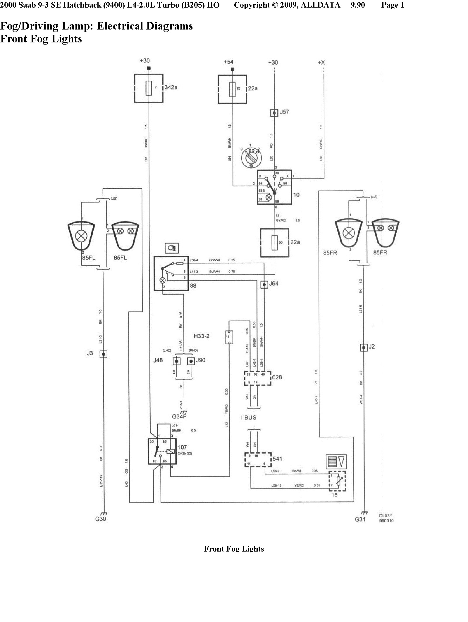 Saab Wiring Diagram Highbeam All Kind Of Diagrams 900 Pdf 2004 9 3 Fog Light 38 Images Creativeand Co 1989