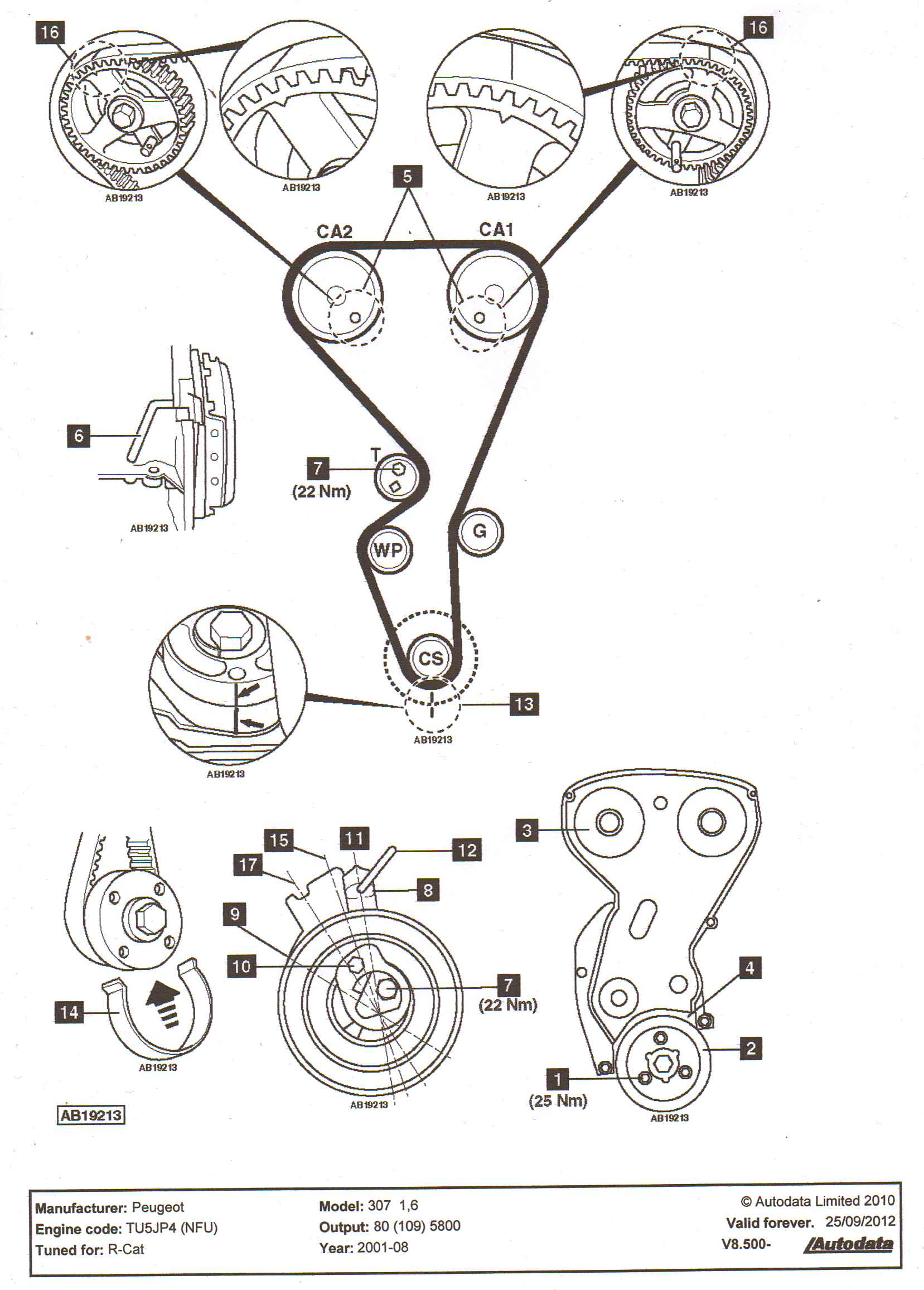 i looking for timing diagram for replacement camshaft belt