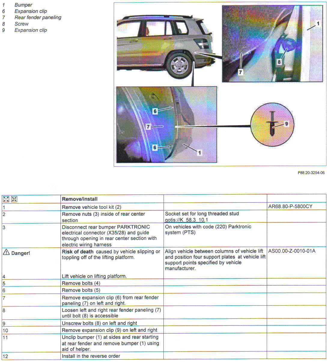 How To Remove The Rear Bumper Fascia From A 2010 Mercedes Glk 350 2011 Engine Diagrams Graphic