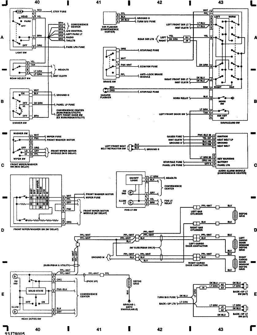 Wiring Diagram 93 Chevy Silverado Gmc Sierra Fuse Library Diagrams Images Gallery 3500 Get Free