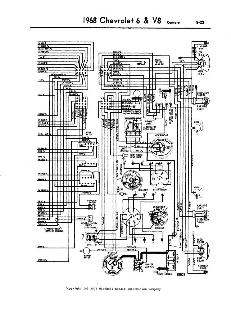 Diagram Need A Complete Front Headlights Wiring Diagram For 1968