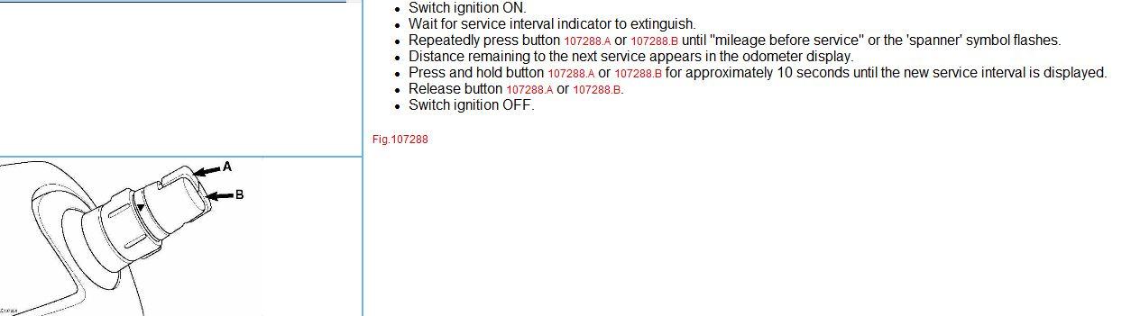 Reset service light for renault megane scenic