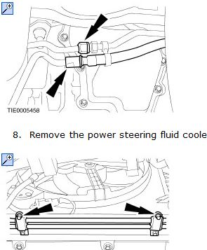 The Power Steering Cooler And Pipes Run Under The Radiator And Near The Gearbox On The Passenger Side Below Is A Diagram Showing Where The Pipes Run