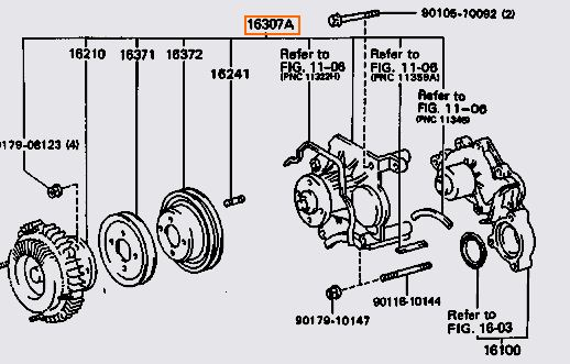 I Need A Diagram Of All The Brackets That Holld The Alternator Power Steering Pump On The Engine I Took Thbis Engine