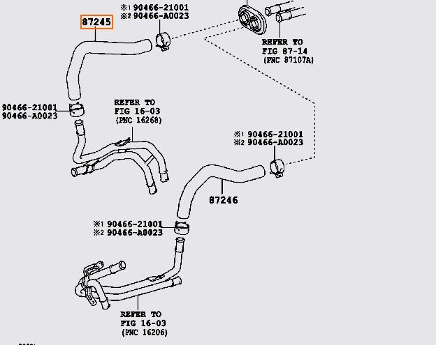 I Have A 2007 Toyota Tundra 5 7 Liter And I Am Looking For The Heater Hose That Goes From The