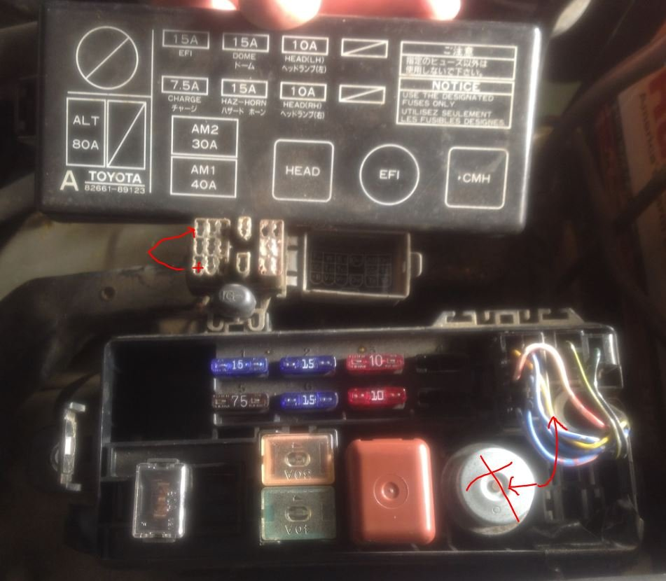 1992 Toyota Pu Fuse Box Great Design Of Wiring Diagram 92 4runner Panel 1990 4 Cylinder Standard Shift Pickup It Cranks