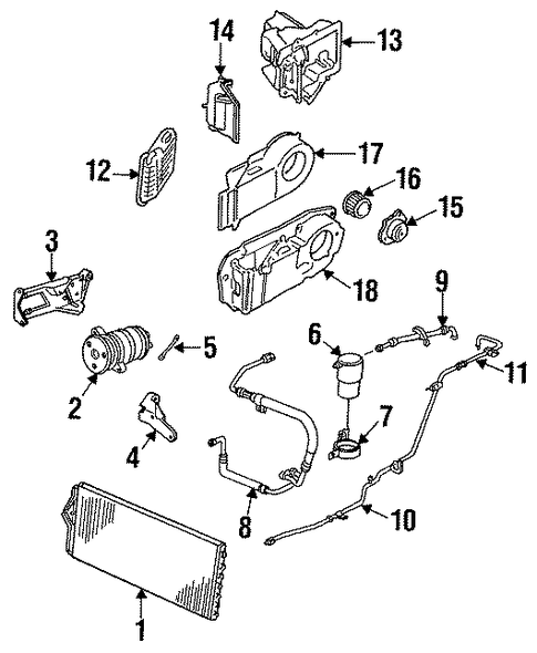 I Need An A  C Diagram For A 1988 Cadillac Sedan Deville  I Am Trying To Find Where The Hose
