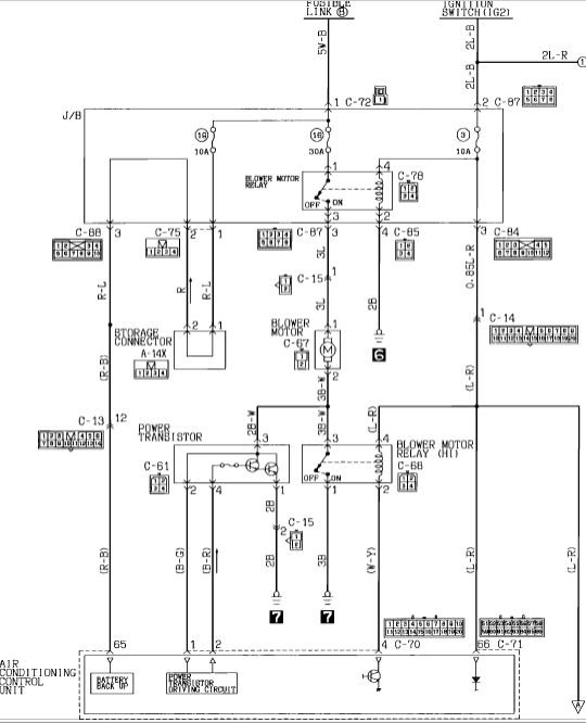i have a '92 mitsubishi diamante that will only blow out the top 2002 mitsubishi diamante wiring diagram Mitsubishi Diamante Wiring Diagram #2