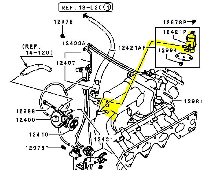 2004 Mitsubishi Lancer Parts Diagram on Mitsubishi Lancer Purge Valve