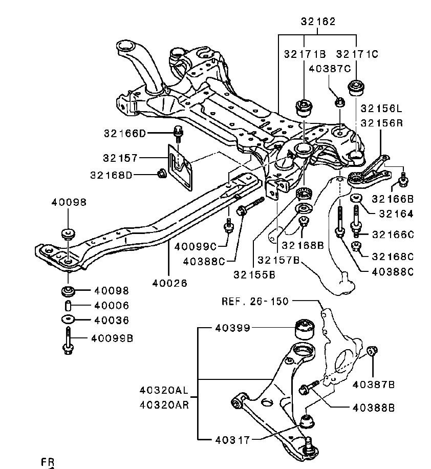 1998 galant rear suspension diagram