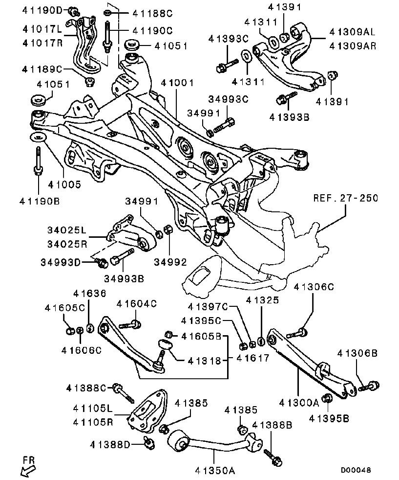 Mitsubishi Endeavor Diagram Wire Data Schema 2005 Wiring Parts Rear Auto