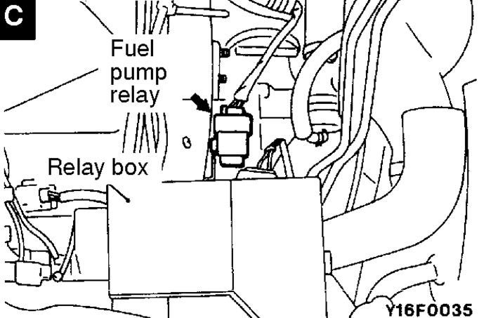 mitsubishi fuel pump relay related questions answered