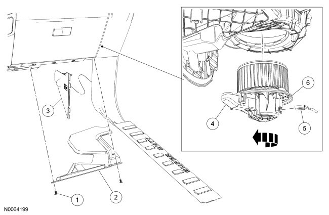 45006 Cabin Air Intake How Does It Keep Water Out also Door Ajar Switch On 2003 Taurus Problems in addition 2012 Ford Ecoboost F150 Fuse Box additionally 2013 Lincoln Mkx Wiring Diagram besides HeatingAirConditioning. on ford edge cabin air filter replacement