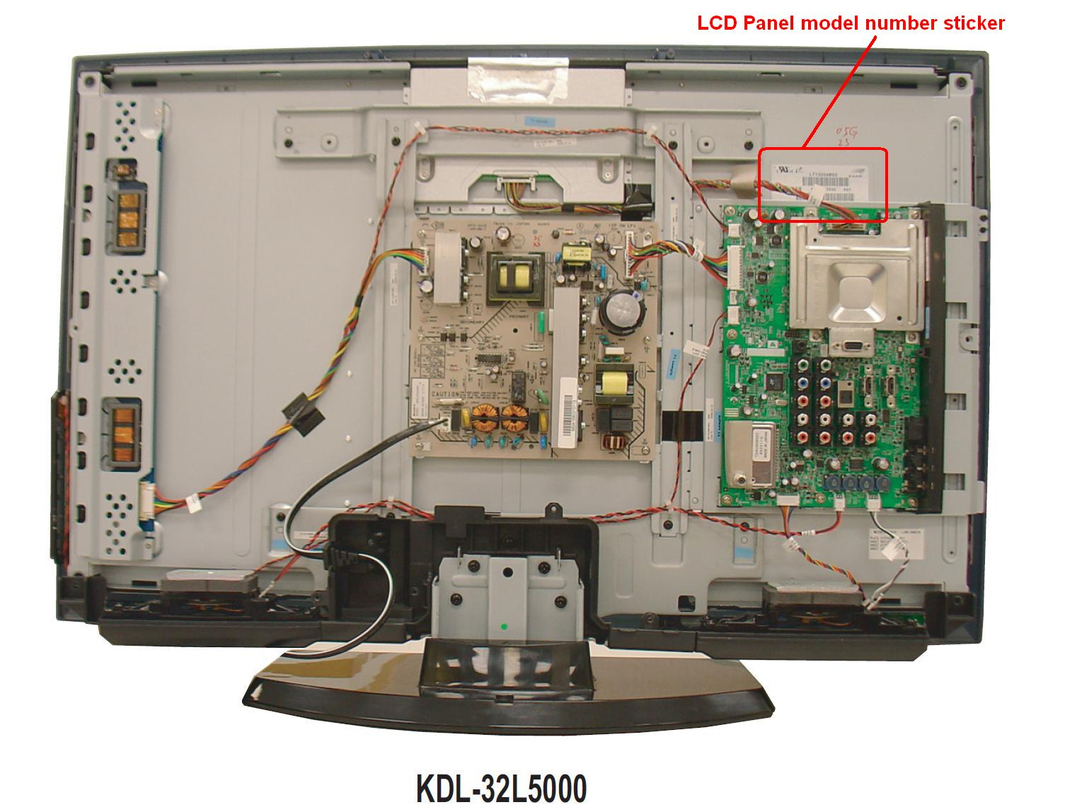 can the lcd panel on a kdl 325000 be replaced the front. Black Bedroom Furniture Sets. Home Design Ideas