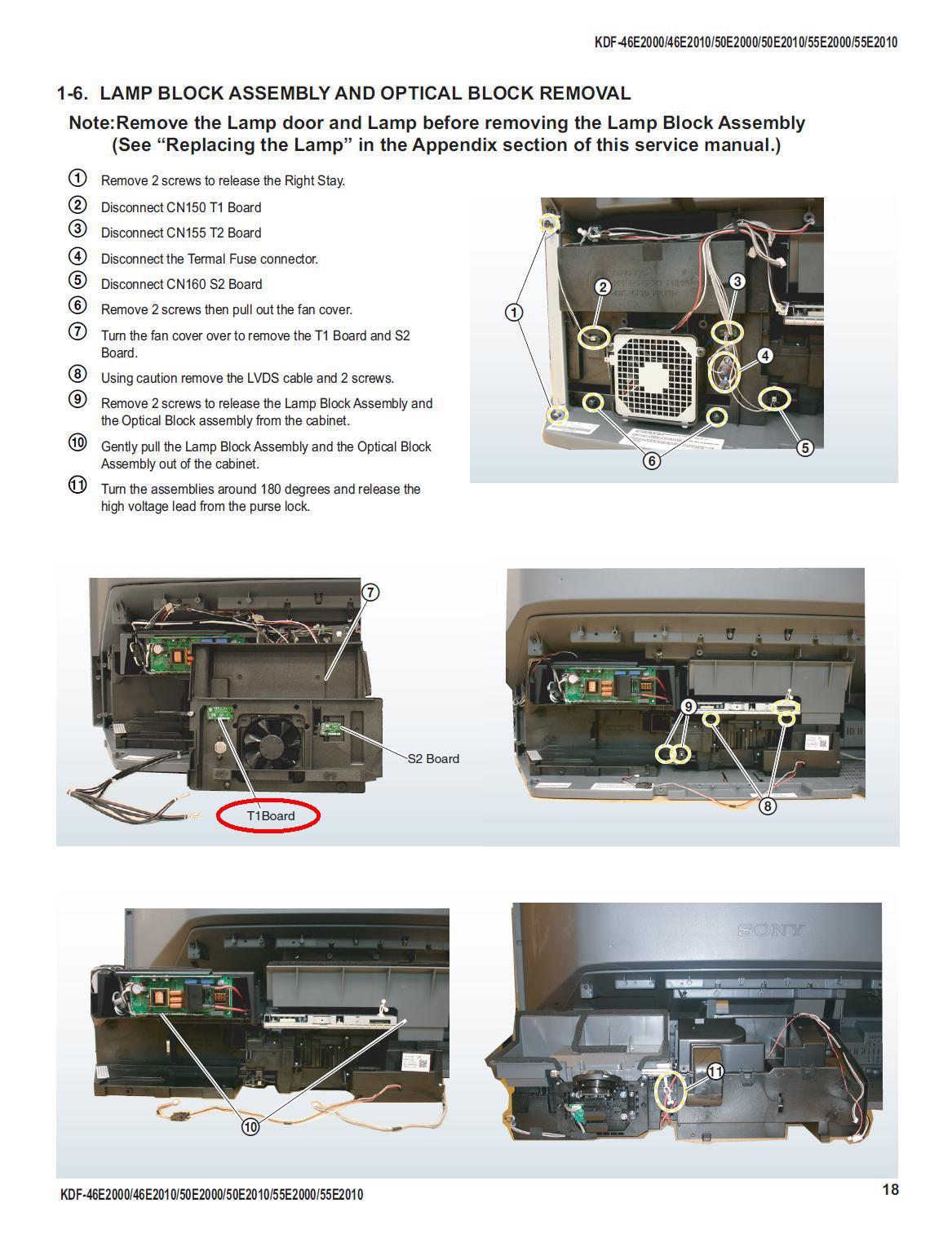 I Have A Sony Grand Wega 46 Quot Lcd Projection Tv Bulb