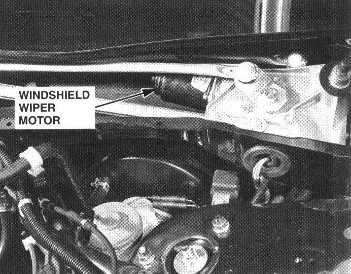 How to replace a wiper motor on 2000 honda accord for Honda crv rear wiper motor