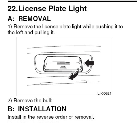 How Do I Change The License Plate Light Bulb On The Rear