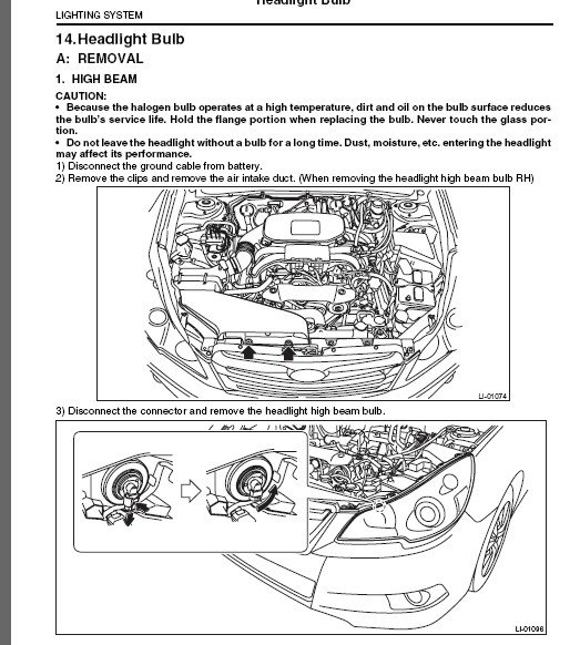 Subaru Legacy  I U0026 39 M Trying To Replace The Low Beam Bulb On A