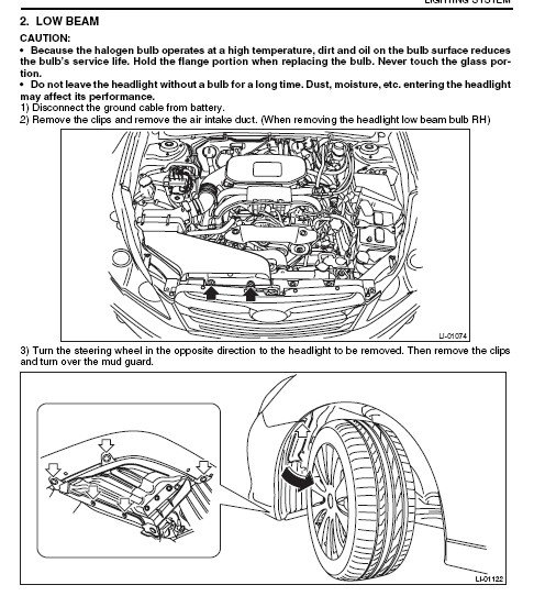 Image on 2011 Subaru Legacy Headlight Bulb Replacement