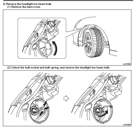 Subaru Legacy I M Trying To Replace The Low Beam Bulb On A