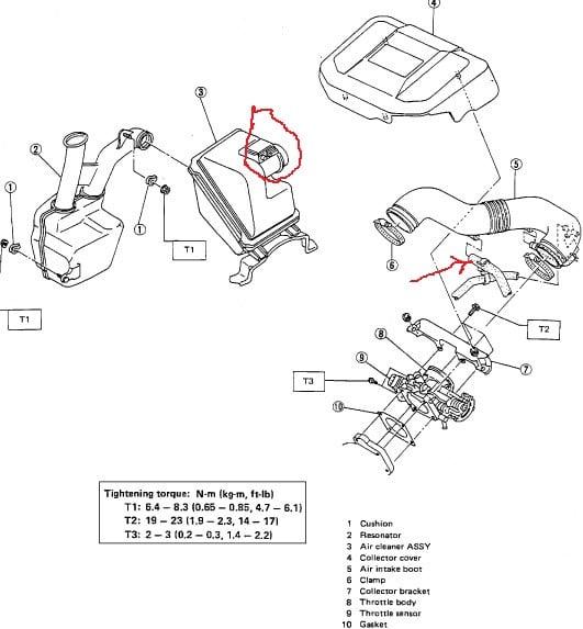 Subaru Legacy M Air Flow Meter Wiring Diagram on