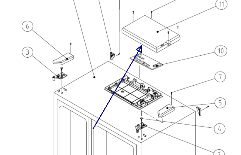 Daewoo Refrigerator Diagram