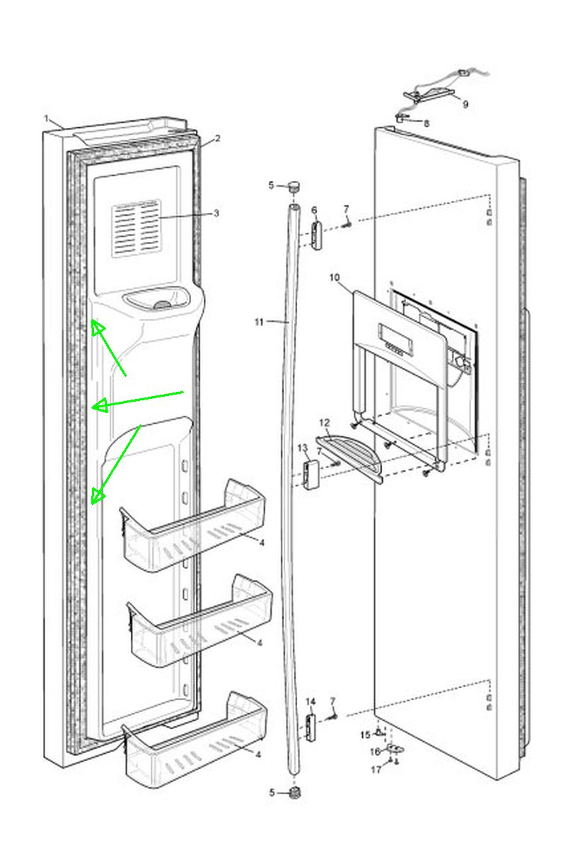 We Have A Westinghouse Fridge Freezer Model Wse6970sa  The