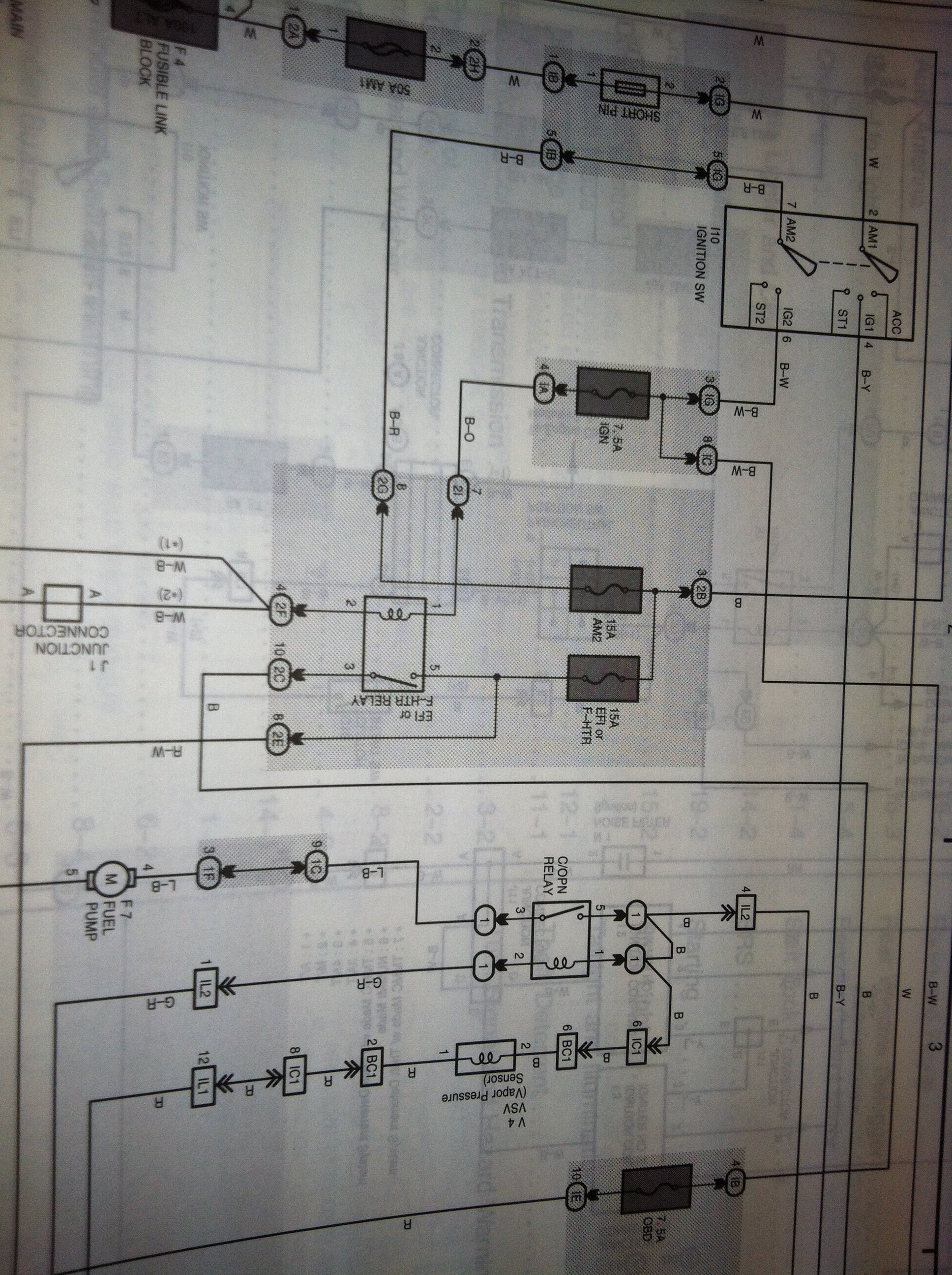 1998 Corolla 18 No Power To Fuel Pump Crank Start Ran Fine Till 98 Coil Wiring Diagram Full Size Image