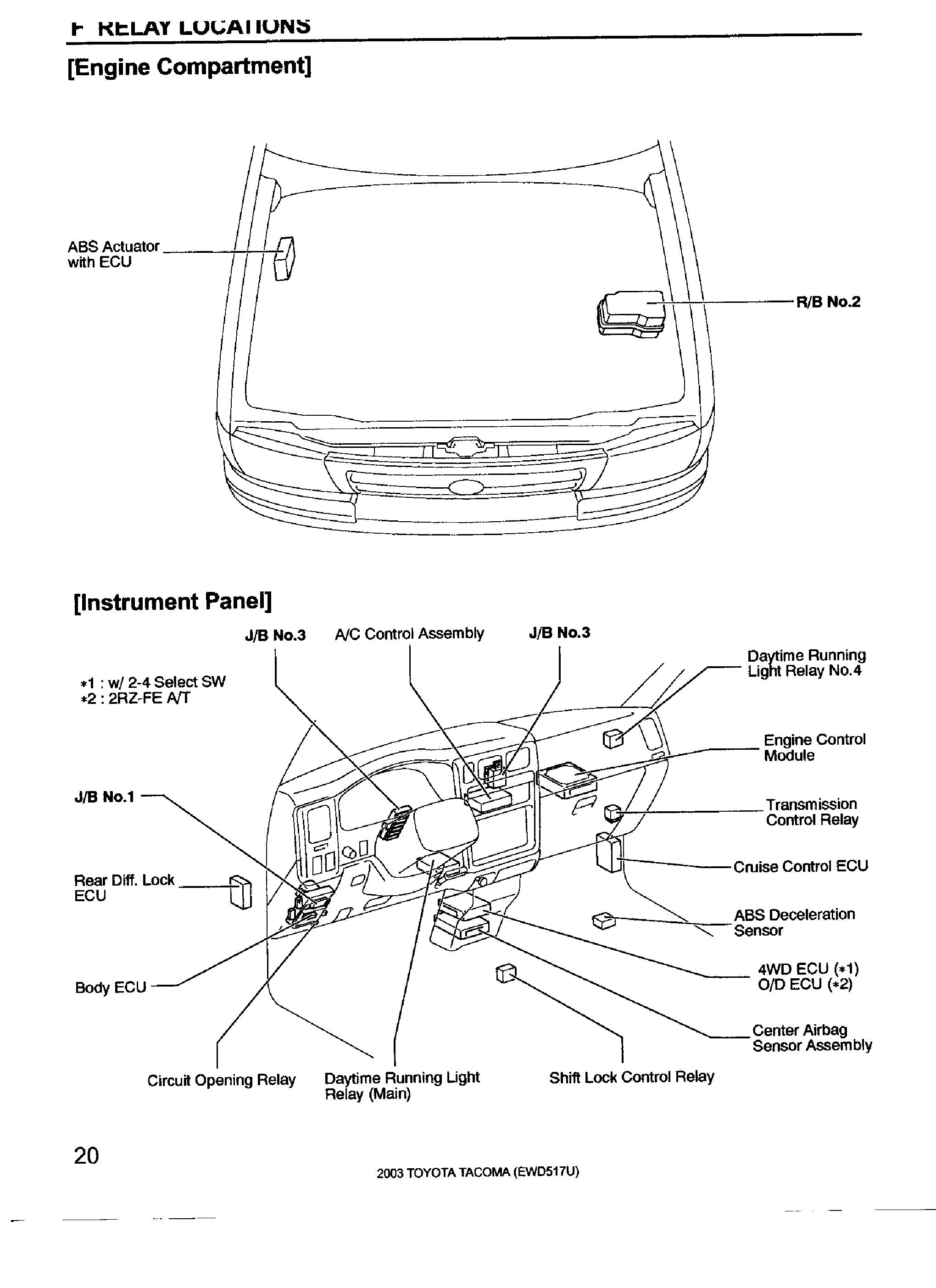 Toyota Tacoma Horn Diagram Wiring Will Be A Thing Electrical Ac To Fuse Box Yotatech In Relay Location 2011
