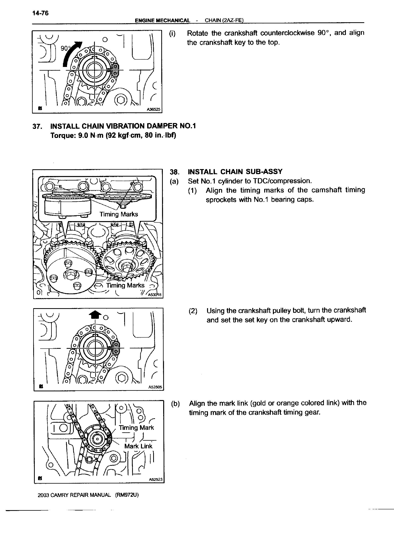 Toyota RAV4 Service Manual: Timing chain