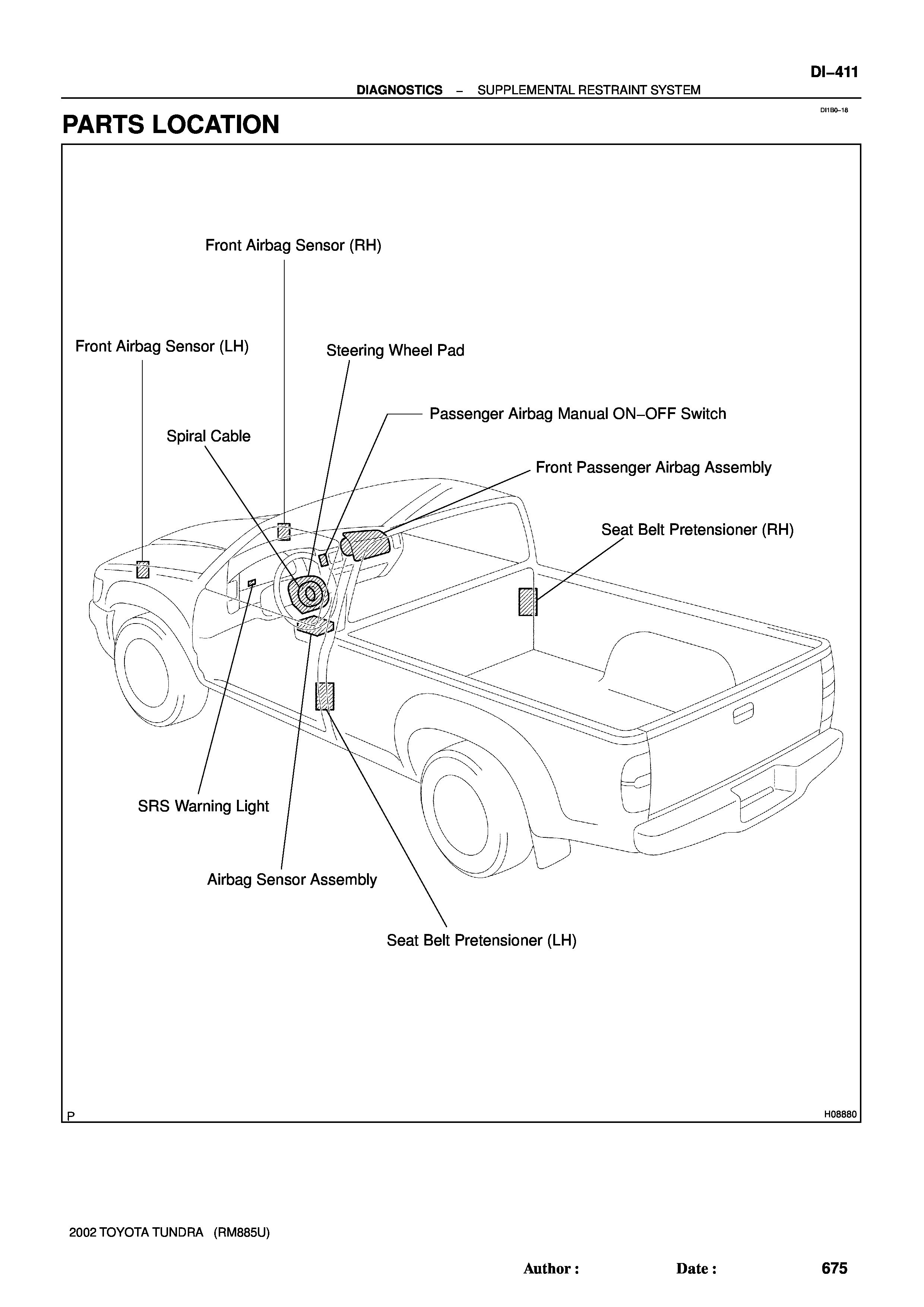 2002 Tundra Limited 4 7l Airbag Light Is On Getting