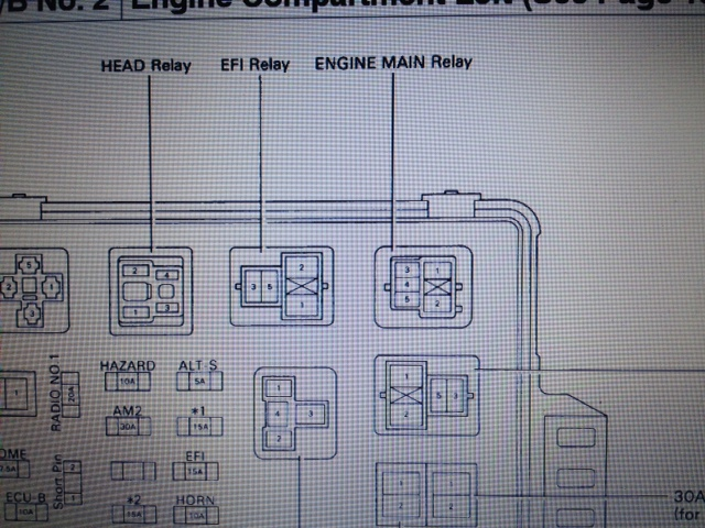 Where is the fuel pump relay or open circuit relay located