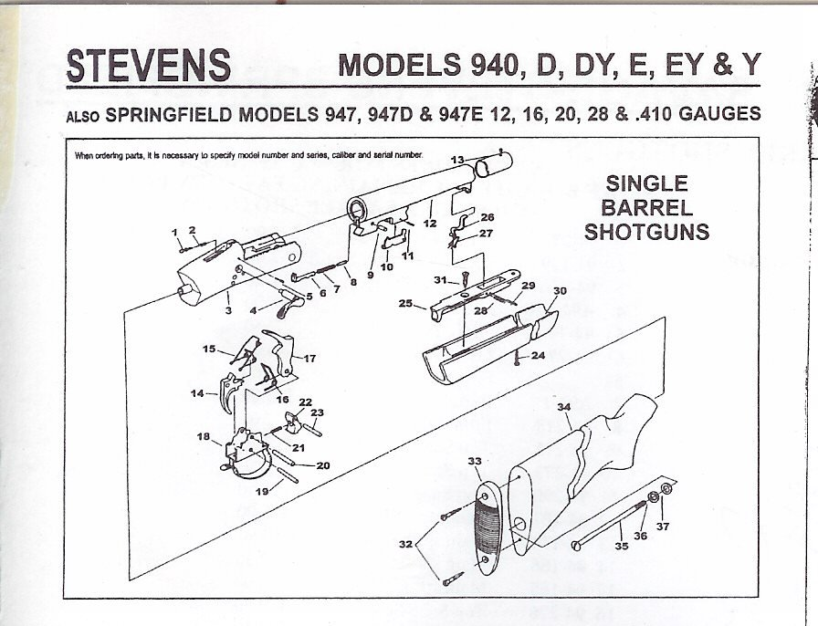 Stevens 940E 410 ga single shot break over. Trying to put the ...