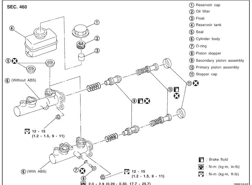 Would You Have A Diagram Of A 99 Nissan Patrol Master Cylinder Assembly