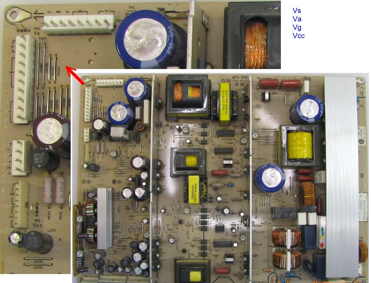 How To Fix Snowy Picture Lg Plasma Ru 42pz71 My Powers Up And 2005 50 Inch Tv Screen Circuit Boards In Back Of If You Have A Meteryou Work On Electronics Nobody Asks Santa For Voltmeternobody Should Know That The Panel