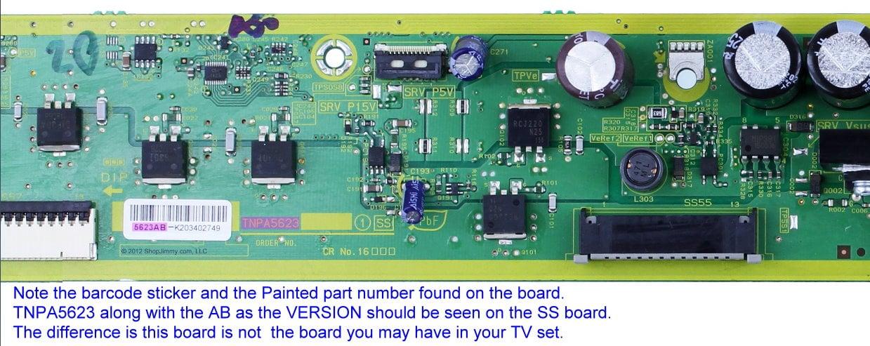 Panasonic TH-P50UT50A won't turn on  Power LED blinks 8 times