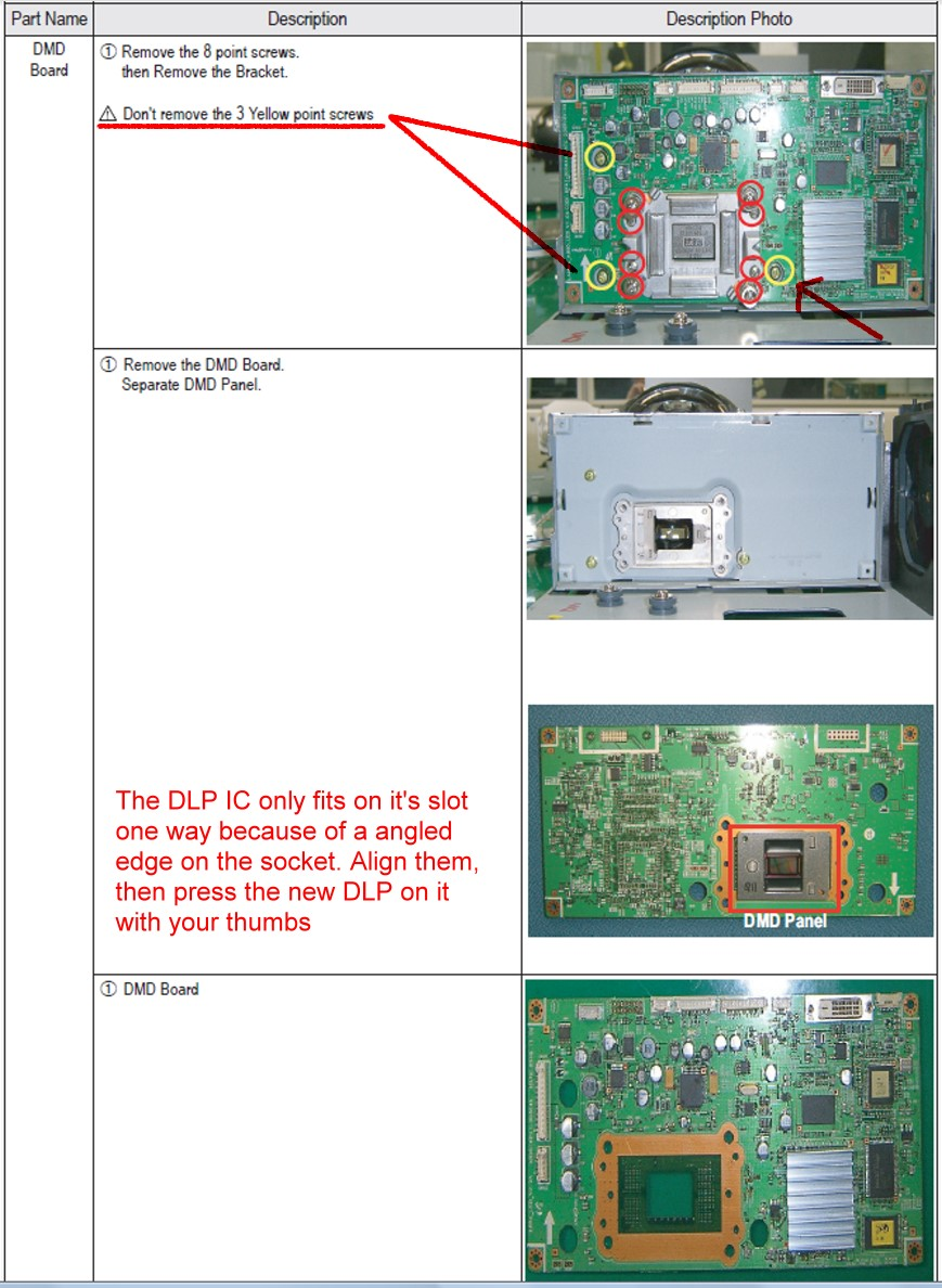 how to replace 4719 001997 dlp chip in my samsung hl t5687s led dlp rh justanswer com Vehicle Wiring Schematic Wiring Schematic Symbols