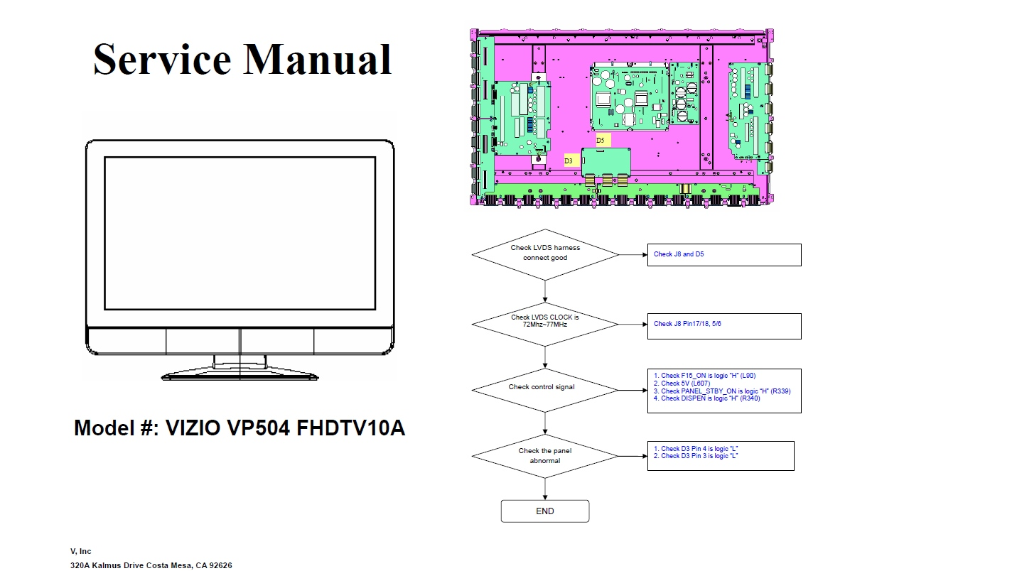 my vizio vp504 wont turn on Vizio Tv Wiring Diagram that's the vizio service manual vizio tv wiring diagram