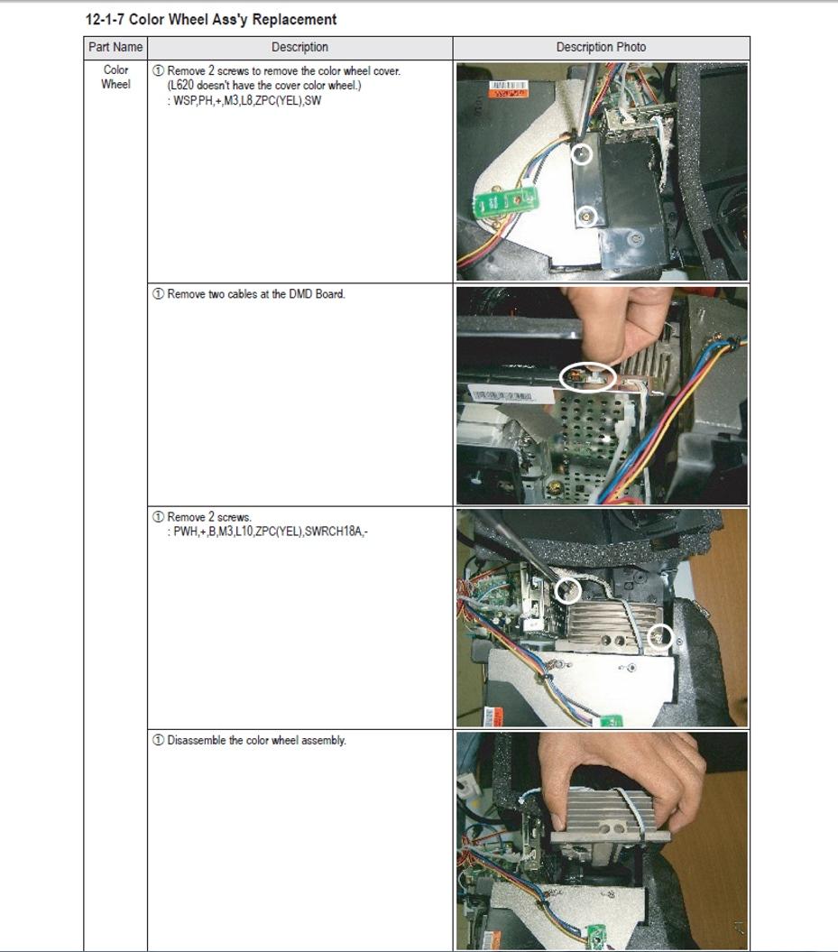 Samsung HLP4663WX//XAA  HLP4663WX COLOR WHEEL L3