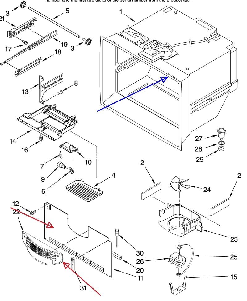 Whirlpool Refrigerator Less