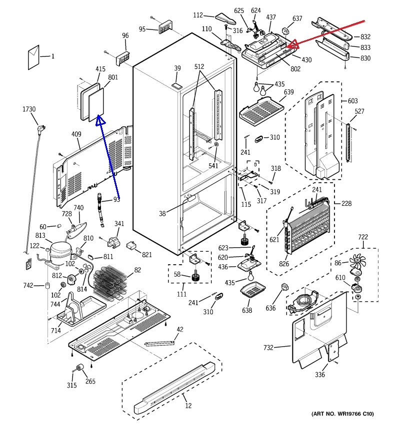samsung refrigerator ice maker wiring diagram ice maker wiring diagram ge refrigerator digital temperature indication for both ...