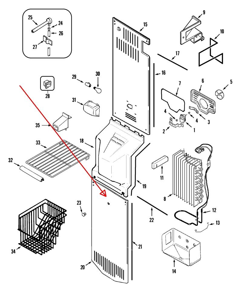 My Maytag Side By Side Refrigerator Model Msd2432grw Is Leaking