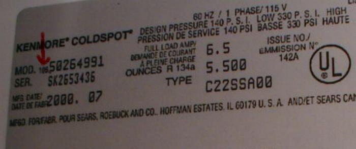 My Kenmore Fridge Model 501 64822 Had A Frozen Defrost