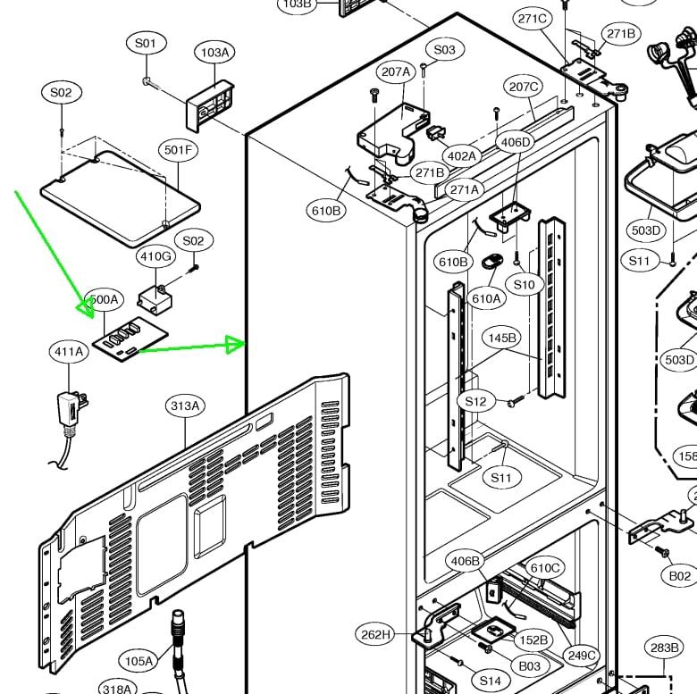 on Kenmore Elite Refrigerator Parts Diagram