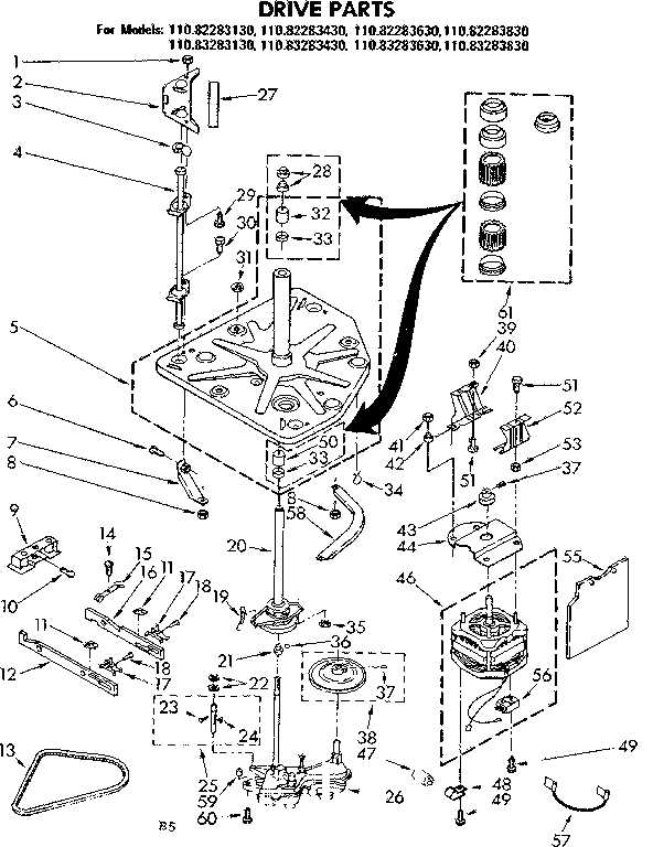 kenmore 90 series washer parts