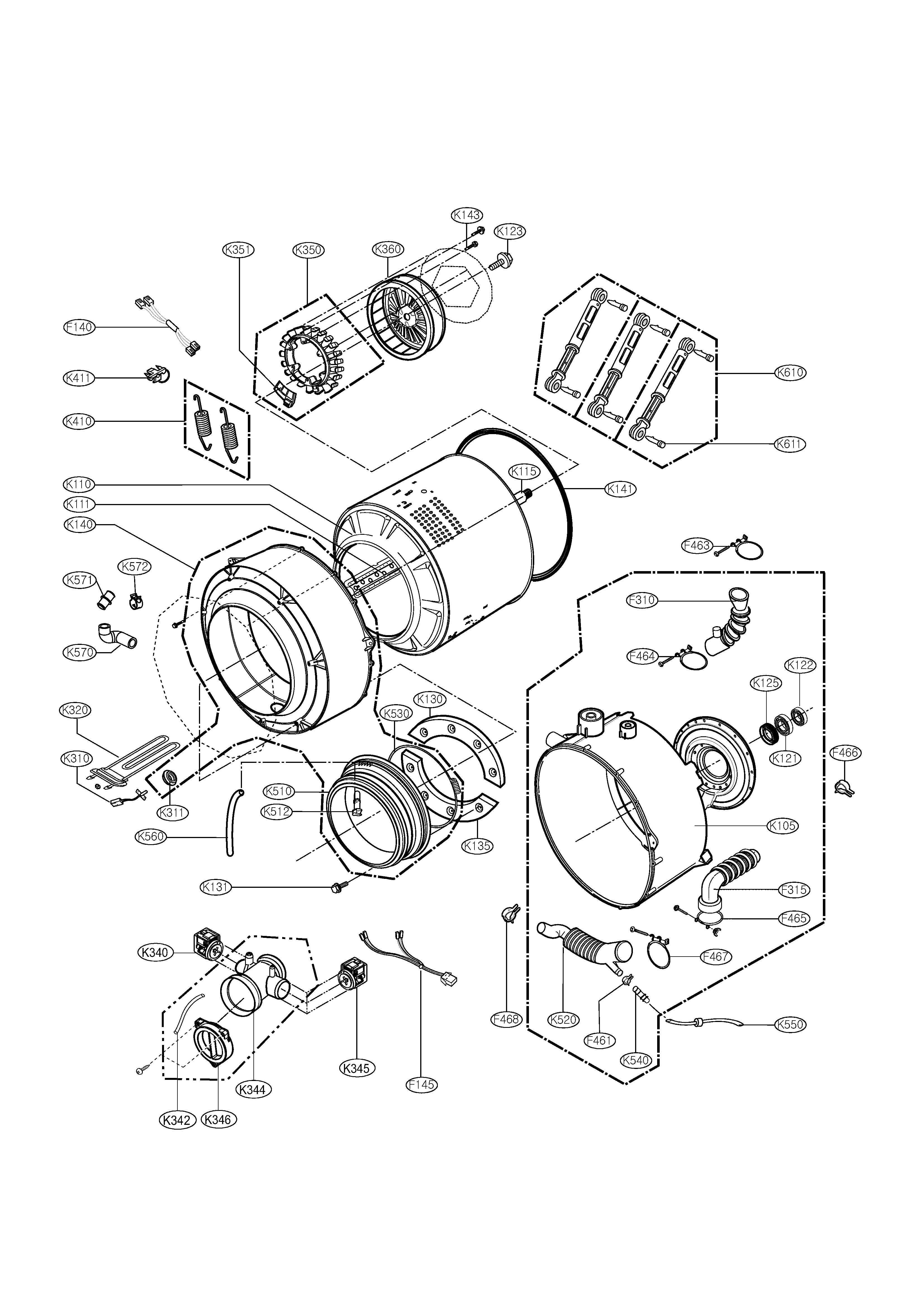 Lgdrivemotordiagram on Lg Washing Machine Parts Diagram