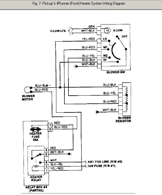 Toyota pickup wiring diagram diagrams image
