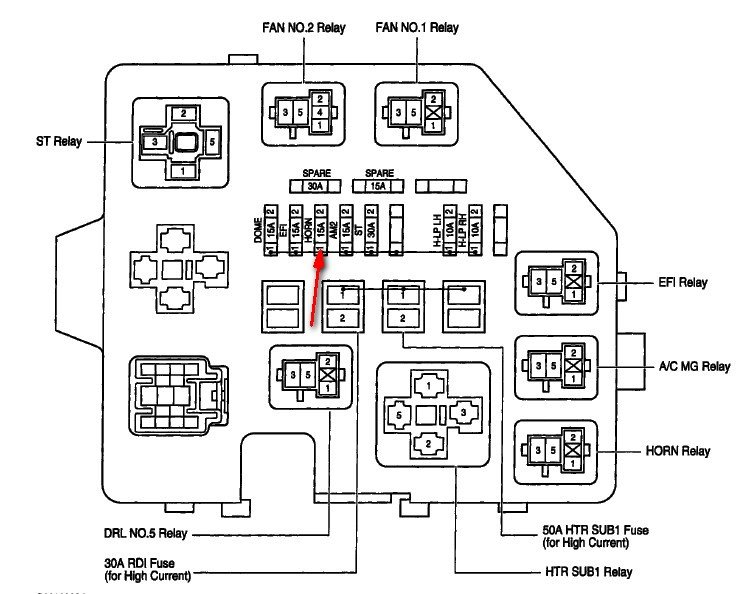 2004 Toyota Echo Fuse Box Diagram