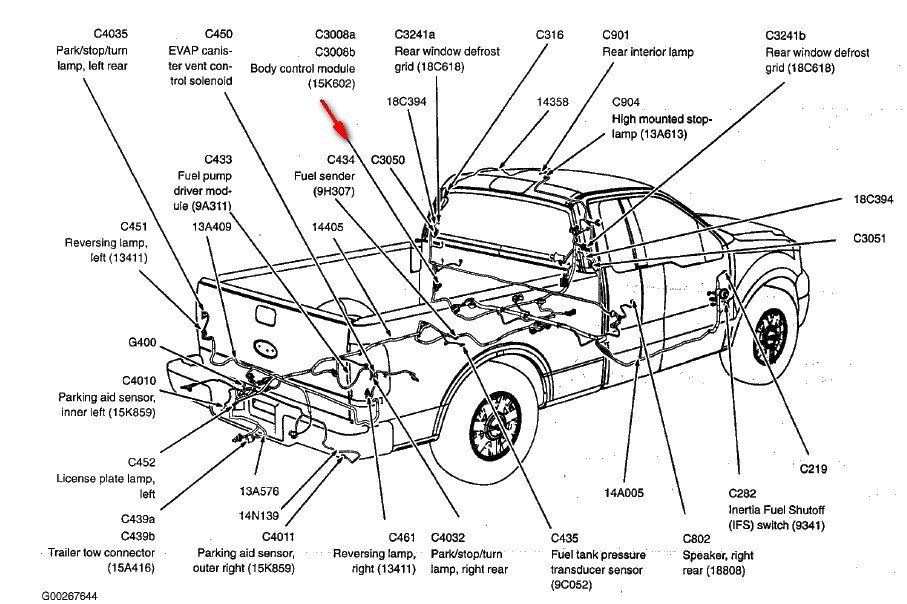 2010 f150 door diagram