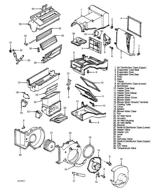1994 Chevrolet Replace Heaterheater Core Need Diagrams Etc